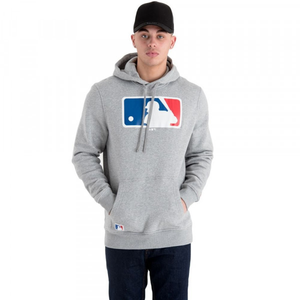 Major League Baseball Logo Hoodie MLB Sweatshirt Grau
