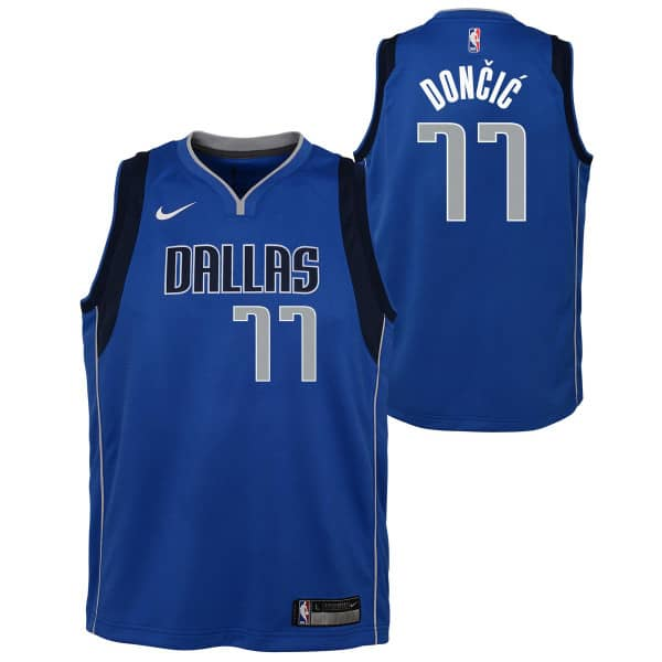 Luka Dončić #77 Dallas Mavericks Youth Swingman NBA Trikot (KINDER)