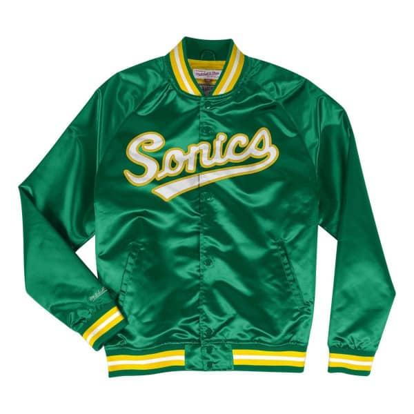 1e086424b5a Mitchell   Ness Seattle SuperSonics Lightweight HWC Satin NBA Jacket Green