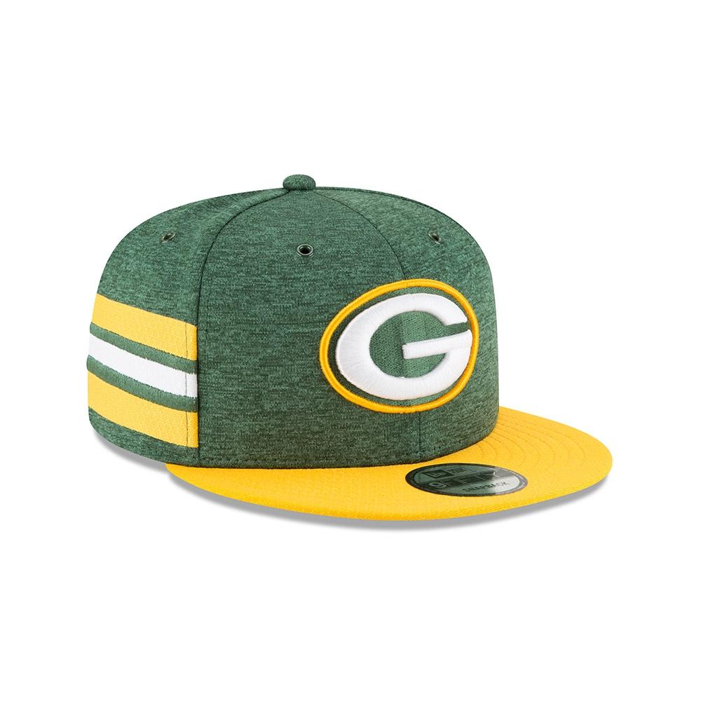 reputable site 30a03 23254 New Era Green Bay Packers 2018 NFL Sideline 9FIFTY Snapback Cap Home   TAASS .com Fan Shop