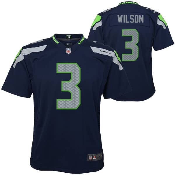 official photos 44730 dc039 Russell Wilson #3 Seattle Seahawks Youth NFL Trikot (KINDER)