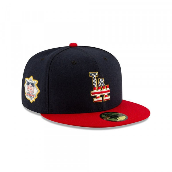 Los Angeles Dodgers 4th of July 2019 59FIFTY Fitted MLB Cap