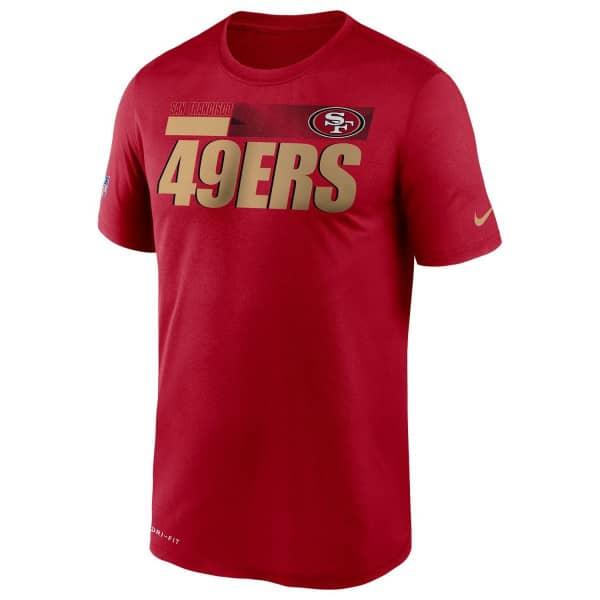 San Francisco 49ers 2020 NFL Sideline Nike Legend T-Shirt Rot