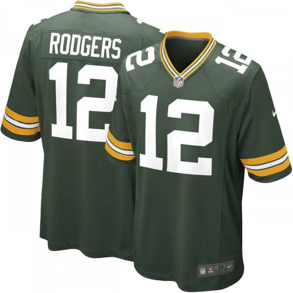 Aaron Rodgers #12 Green Bay Packers Game Football NFL Trikot Grün