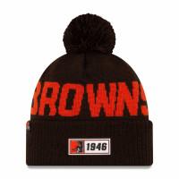 Cleveland Browns 2019 NFL Sideline Sport Knit Wintermütze Road