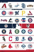 Official MLB Team Logos Poster