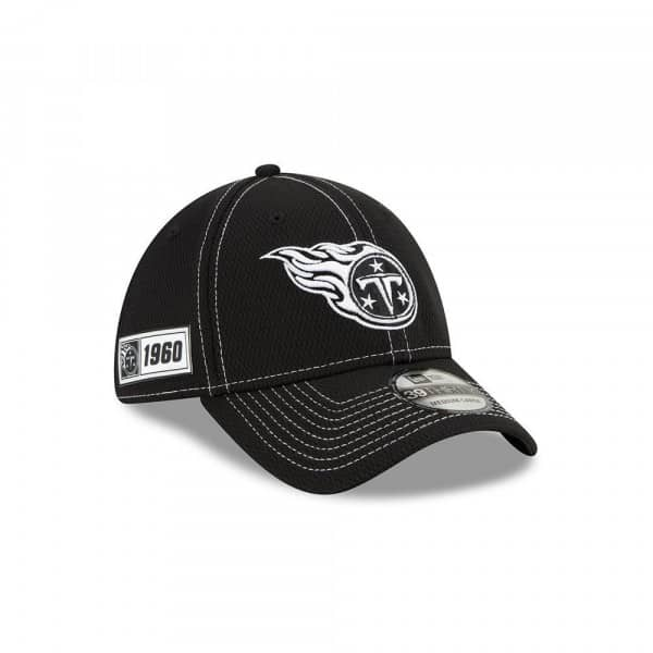 Tennessee Titans 2019 NFL Sideline Black 39THIRTY Stretch Cap Road