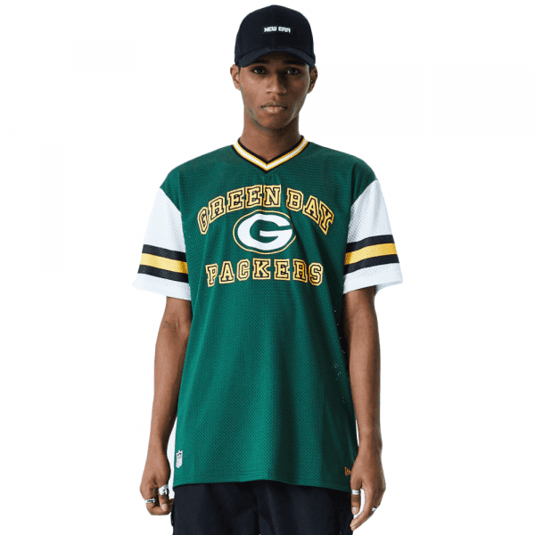 Green Bay Packers New Era Arch Stripe Oversized Mesh NFL Fantrikot
