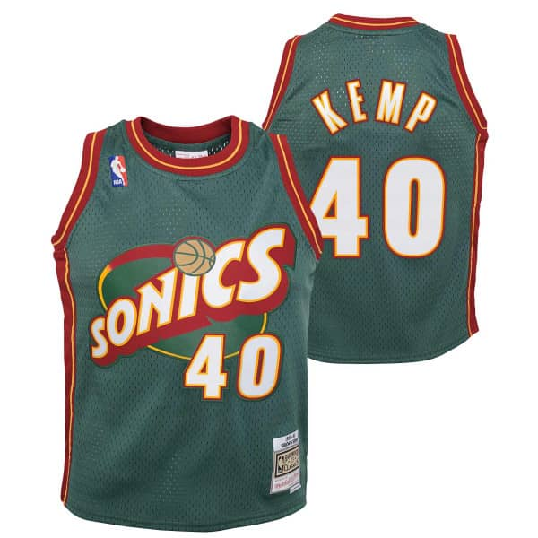 Shawn Kemp #40 Seattle SuperSonics 1995-96 Youth Swingman NBA Trikot (KINDER)