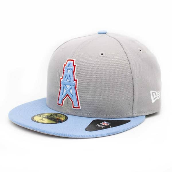 New Era Houston Oilers Throwback 59FIFTY Fitted NFL Cap  3f048e2265f