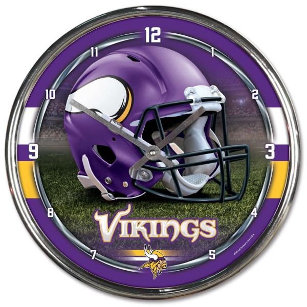 Minnesota Vikings Chrome NFL Wanduhr