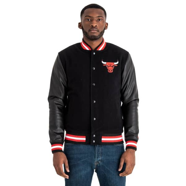 Chicago Bulls Team Logo Varsity NBA Jacke