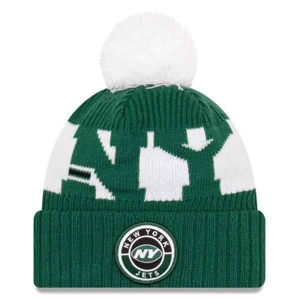 New York Jets Official 2020 NFL Sideline New Era Sport Knit Wintermütze