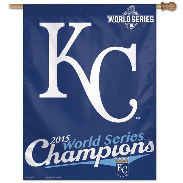 Kansas City Royals 2015 World Series Champions MLB Fahne 90 x 70 cm