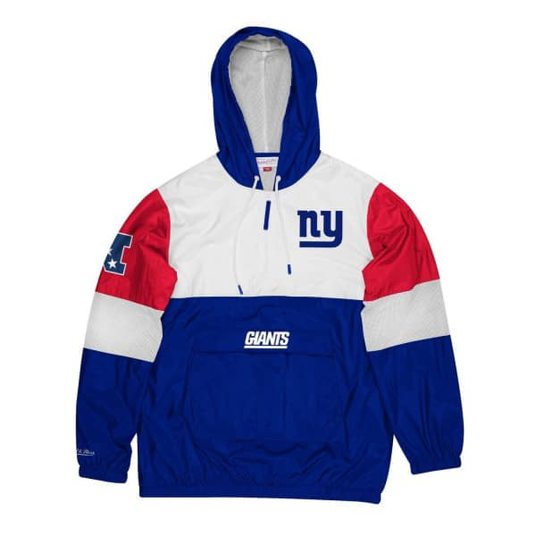 New York Giants Surprise Win Mitchell & Ness NFL Windbreaker Jacke