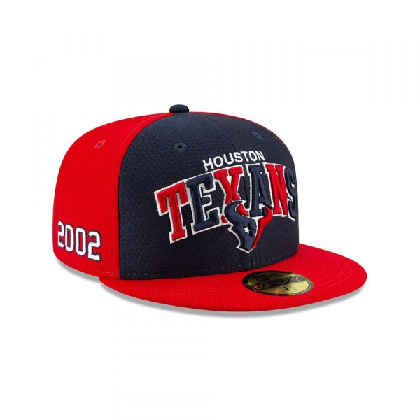 Houston Texans 2019 NFL On-Field Sideline 59FIFTY Fitted Cap Home