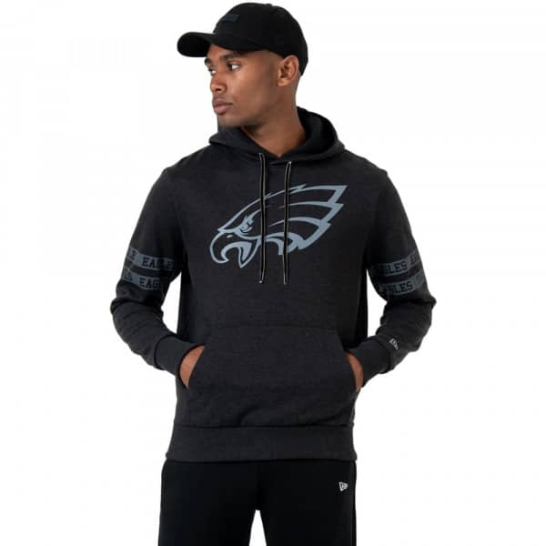 Philadelphia Eagles Tonal Tape Effect NFL Hoodie Schwarz