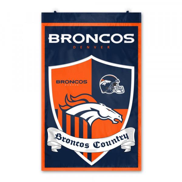 Denver Broncos Team Shield NFL Banner Fahne