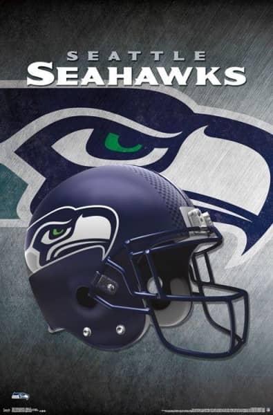 Seattle Seahawks Helmet Football NFL Poster