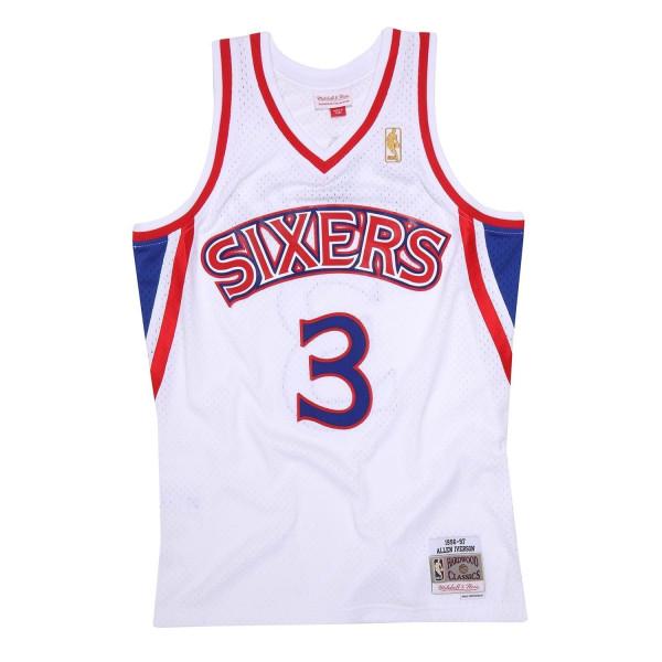 Allen Iverson #3 Philadelphia 76ers 1996-97 Swingman NBA Trikot Weiß