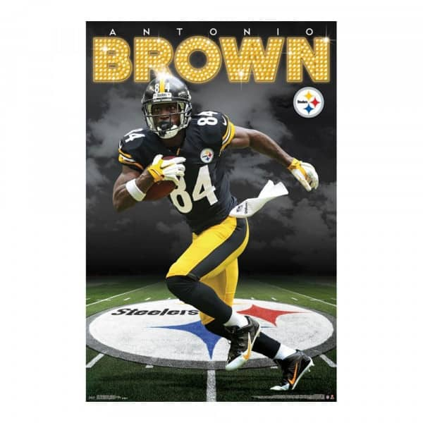 lowest price c9f70 66ab8 Pittsburgh Steelers Antonio Brown Superstar NFL Poster