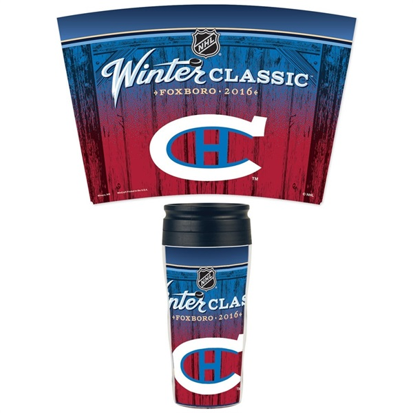 Montreal Canadiens 2016 Winter Classic NHL Reisebecher