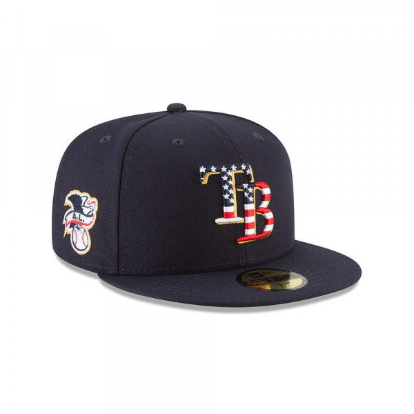 Tampa Bay Rays 4th of July 2018 59FIFTY Fitted MLB Cap