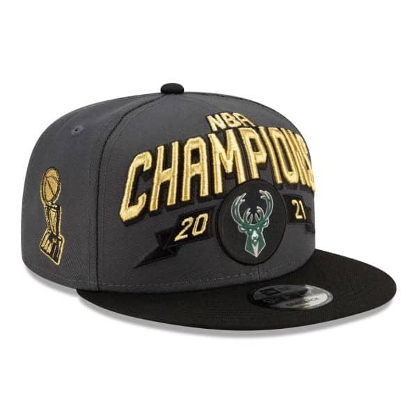 Milwaukee Bucks 2021 NBA Champions On-Court New Era 9FIFTY Snapback NBA Cap