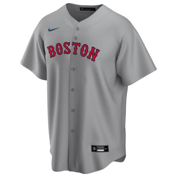 Boston Red Sox 2020 Nike MLB Replica Road Trikot Grau