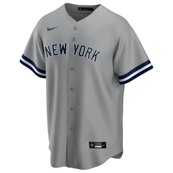 New York Yankees 2020 Nike MLB Replica Road Trikot Grau