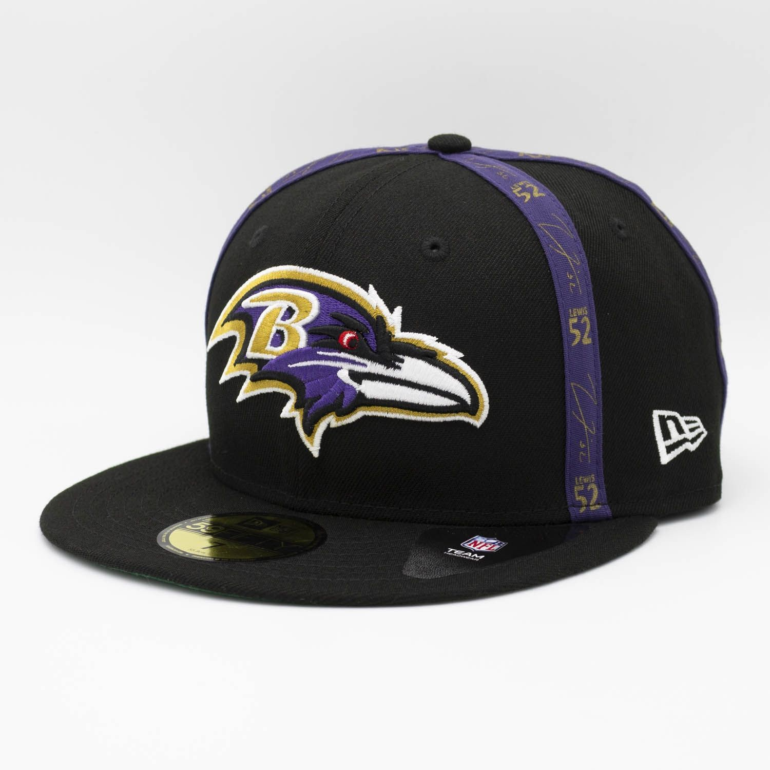 c9498a9ca New Era Ray Lewis Reverse Script Baltimore Ravens 59FIFTY Fitted NFL Cap