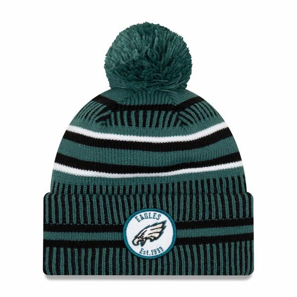 Philadelphia Eagles 2019 NFL Sideline Sport Knit Wintermütze Home