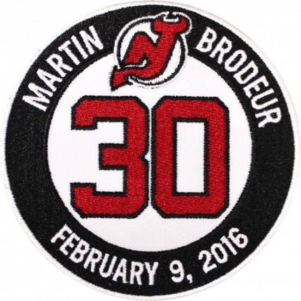 2016 New Jersey Devils Martin Brodeur Retirement NHL Trikot Patch / Aufnäher