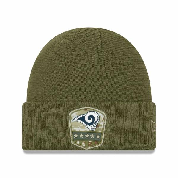 Los Angeles Rams 2019 On-Field Salute to Service NFL Beanie Wintermütze