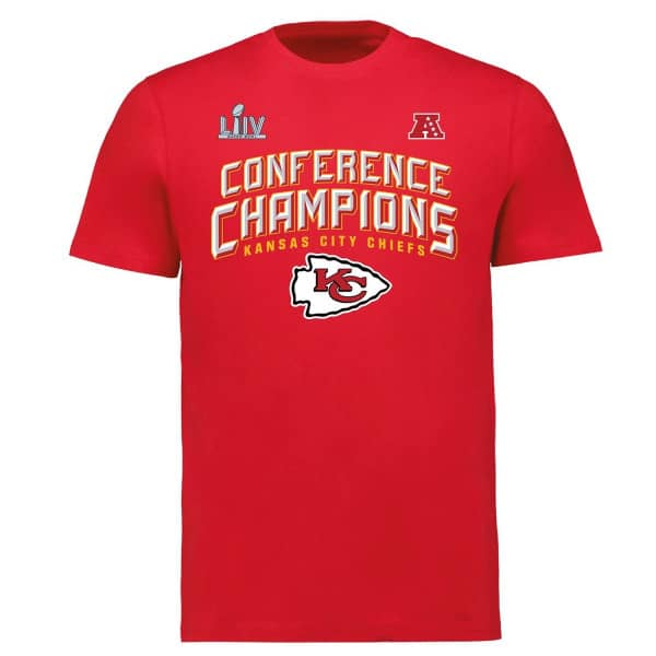 Kansas City Chiefs 2019-20 AFC Conference Champions NFL T-Shirt