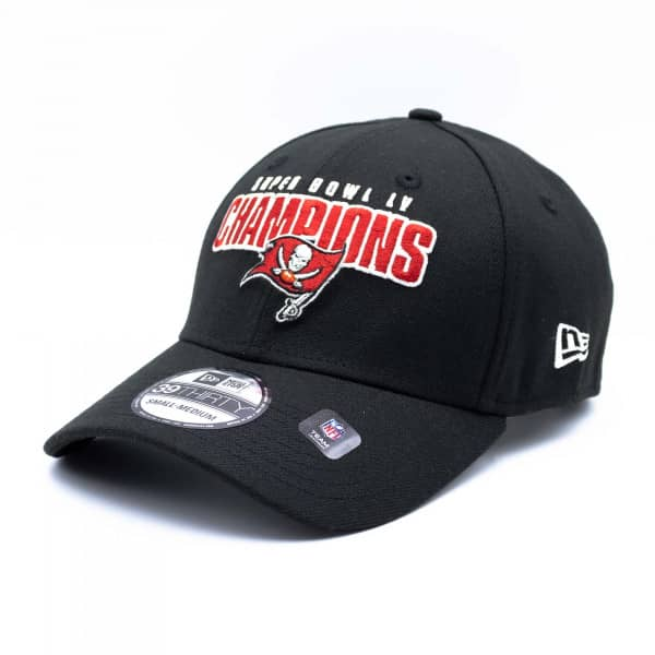 Tampa Bay Buccaneers Super Bowl LV Champions New Era NFL 39THIRTY Flex Cap