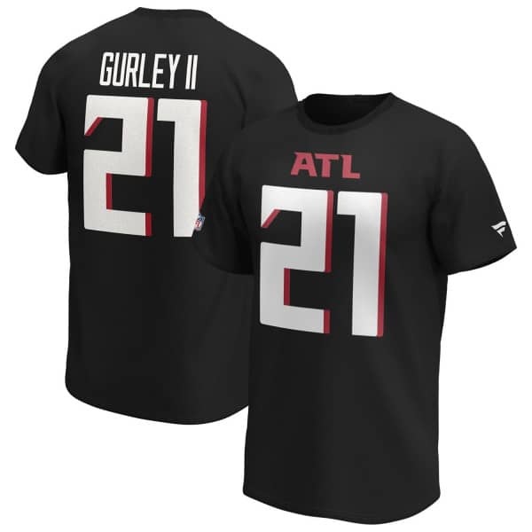 Todd Gurley II #21 Atlanta Falcons Fanatics Player NFL T-Shirt Schwarz