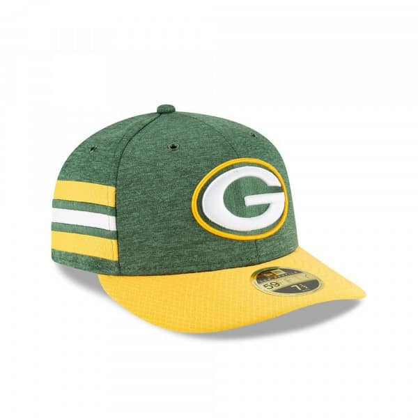 Green Bay Packers 2018 NFL Sideline Low Profile 59FIFTY Cap Home