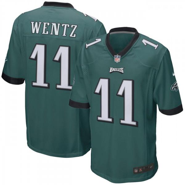 Carson Wentz #11 Philadelphia Eagles Game Football NFL Trikot