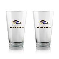 Baltimore Ravens Highball NFL Pint Glas Set (2 Stk.)