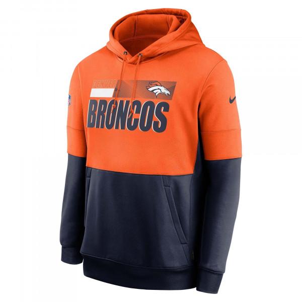 Denver Broncos 2020 NFL Sideline Lockup Nike Therma Hoodie