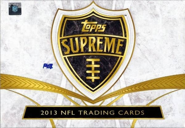 2013 Topps Supreme Football Hobby Box NFL
