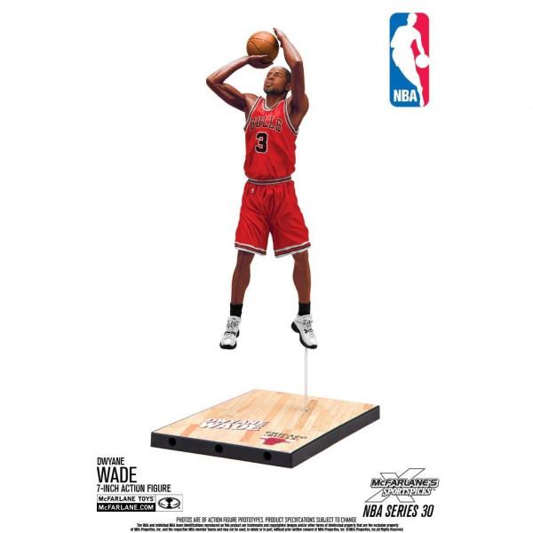 separation shoes 6625b 4c947 McFarlane NBA Series 30 Dwyane Wade Chicago Bulls Basketball Figure (16 cm)    TAASS.com Fan Shop