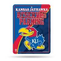 Kansas Jayhawks Reserved Parking NCAA Metallschild
