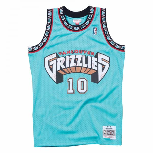 Mike Bibby #10 Vancouver Grizzlies 1998-99 Swingman NBA Trikot