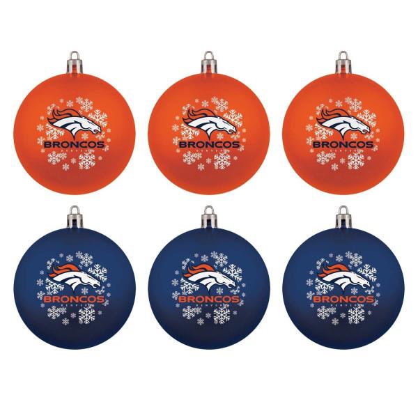 Denver Broncos NFL Weihnachtskugeln Geschenk-Set (6-Teilig)