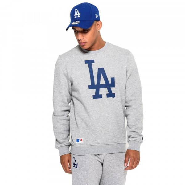 Los Angeles Dodgers Logo Crewneck MLB Sweatshirt Grau