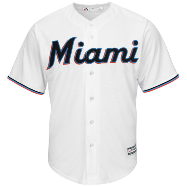 Miami Marlins Cool Base MLB Trikot Home Weiß