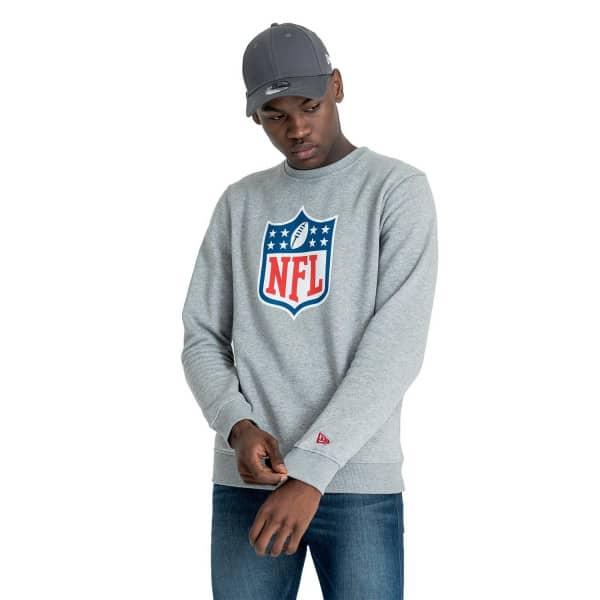NFL Shield Logo Crewneck NFL Sweatshirt Grau