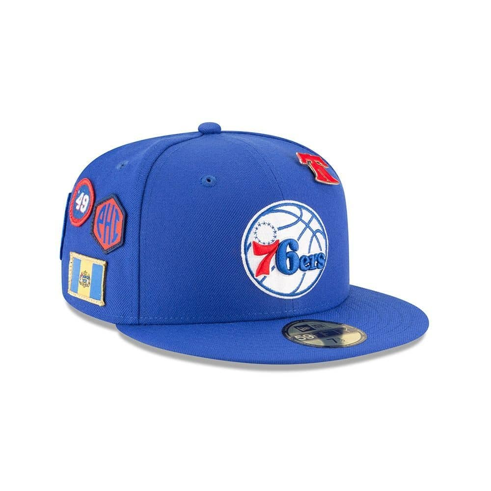 26a1f231fc8 New Era Philadelphia 76ers 2018 NBA Draft 59FIFTY Fitted Cap Blue ...